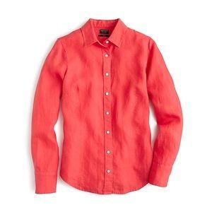 J. Crew Baird McNutt Irish Linen Perfect Shirt